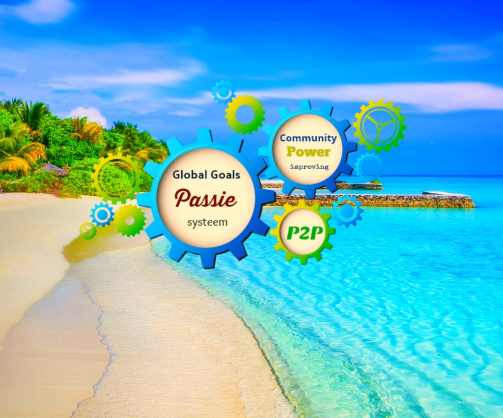 Logo GGP systeem met paradijs achtergrond