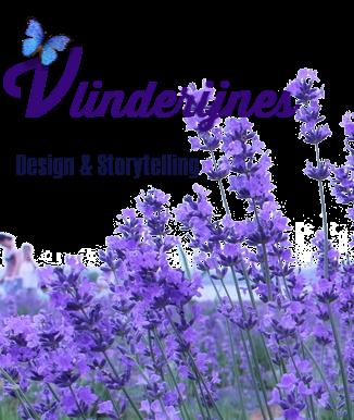 Logo Vlinderijnes - met lavendel