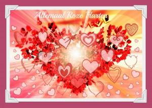 Logo Allemaal Roze Harten - Frame met roze achtergrond