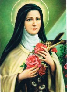 Maria en rode rozen
