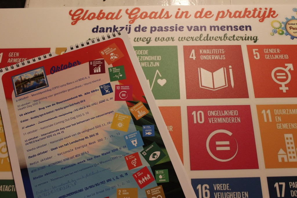 De Global Goals zijn informatief vermeld om een oplossing te bieden bij duurzame projecten.